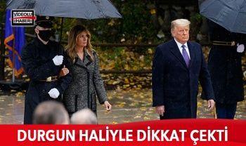 Trump durgun haliyle dikkat çekti