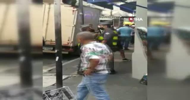 Askeri polis sokak ortasında meslektaşına silah çekti