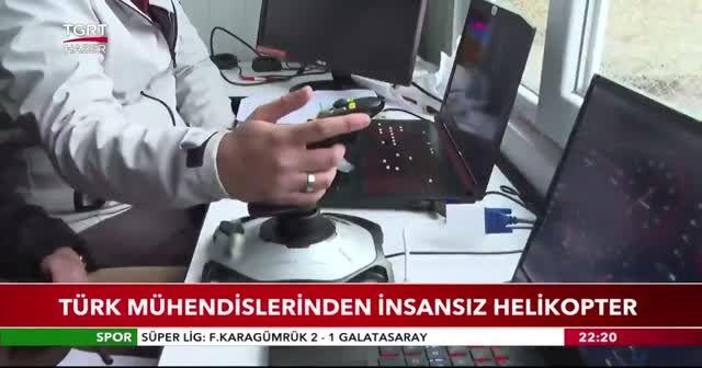Türk mühendislerinden insansız helikopter