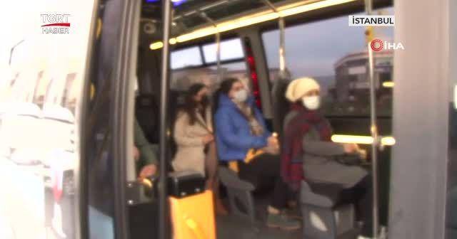 Toplu taşımada korona virüs denetimi