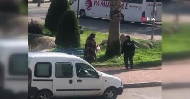 Antalya'da polis memurundan içleri ısıtan davranış