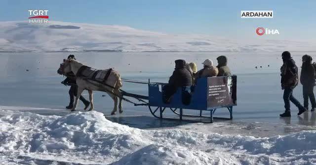 Atlı kızak sezonu açıldı