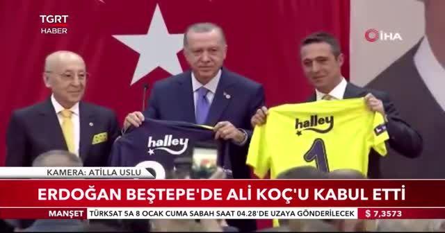 Cumhurbaşkanı Erdoğan Beştepe'de Ali Koç'u kabul etti