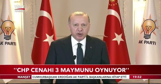 Erdoğan'dan CHP'ye tepki: 3 maymunu oynuyorlar