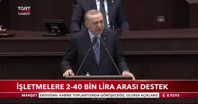 Erdoğan'dan restoran ve kafelere destek müjdesi