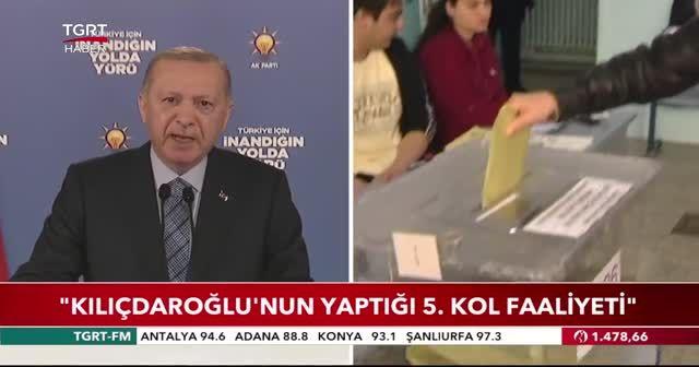 Cumhurbaşkanı Erdoğan: Kılıçdaroğlu'nun yaptığı 5. kol faaliyeti