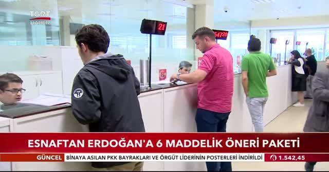 Esnaftan Erdoğan'a 6 maddelik öneri paketi