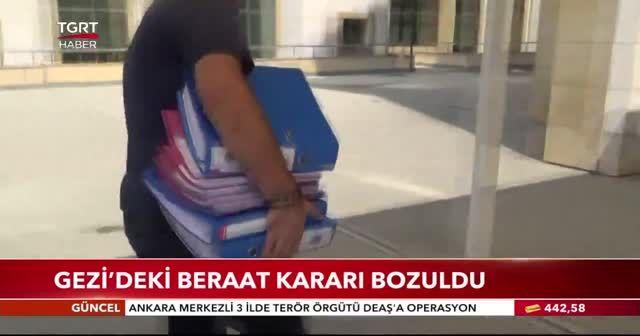 Gezi'deki beraat kararı bozuldu