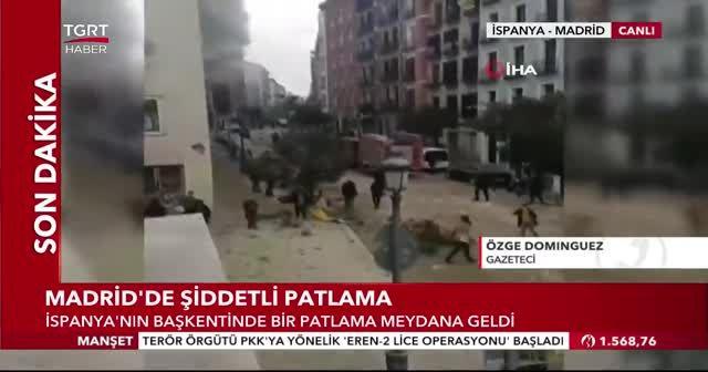 İspanya'nın başkenti Madrid'de şiddetli patlama