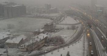 İstanbul'da kar yağışı drone ile görüntülendi