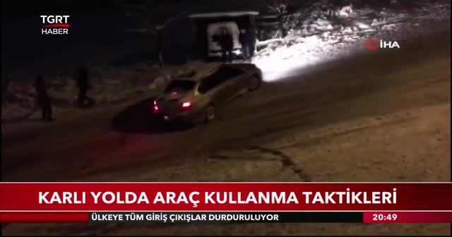 Karlı yolda araç kullanma taktikleri
