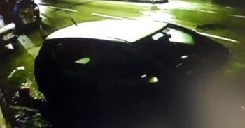 Kısıtlama saatinde seyir halindeki otomobil ile çekici çarpıştı
