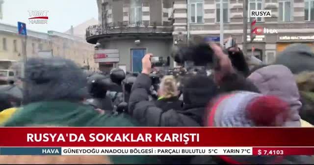 Rusya'da sokaklar karıştı