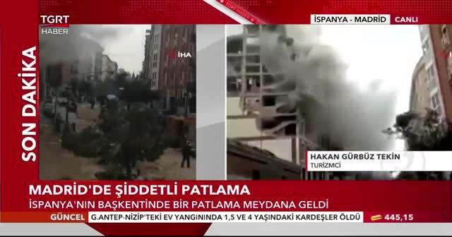 Madrid'de şiddetli patlama: En az 2 ölü
