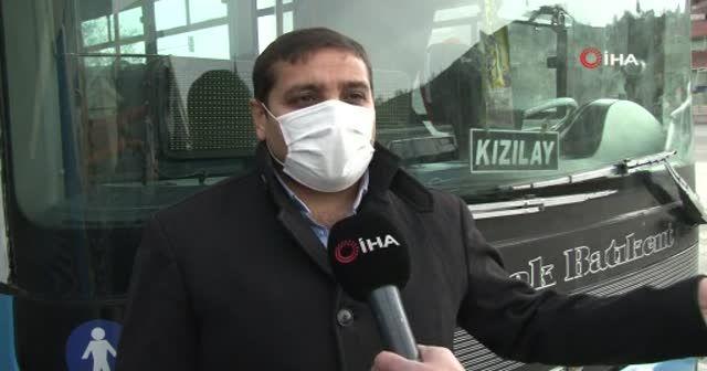 Saldırıya uğrayan Özel Halk Otobüsü şoförü İHA'ya konuştu