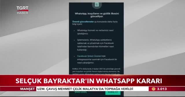 Selçuk Bayraktar'ın Whatsapp kararı