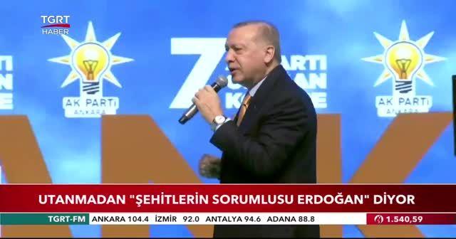Erdoğan: Utanmadan