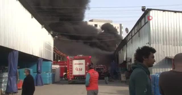 Geri dönüşüm tesisindeki yangın kontrol söndürüldü