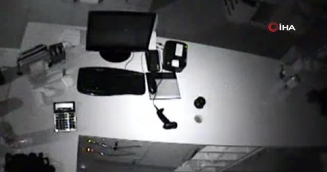 Güvenlik kamerasına yakalanan hırsız suç makinesi çıktı