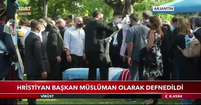 Hristiyan başkan Müslüman olarak defnedildi