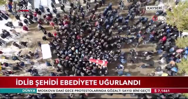 İdlib şehidi ebediyete uğurlandı