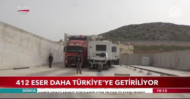 412 eser daha Türkiye'ye getirilecek