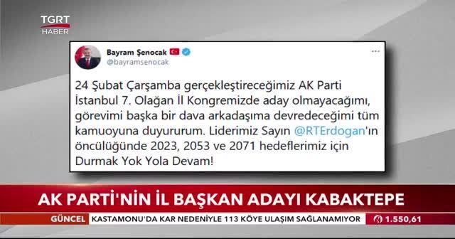 AK Parti'nin İstanbul il başkan adayı Kabaktepe