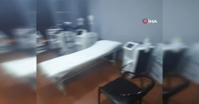 Apartman dairesindeki kaçak hastaneye baskın