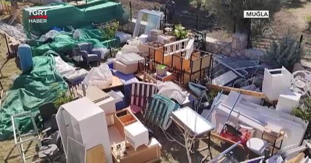 Kaçak yapıların yıkımı sürüyor