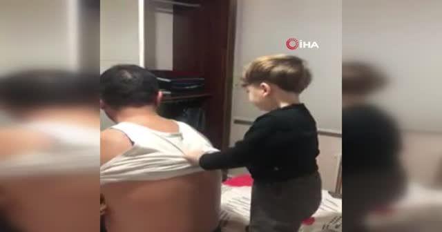 Katledilen baba ile oğlun son görüntüleri yürekleri dağladı