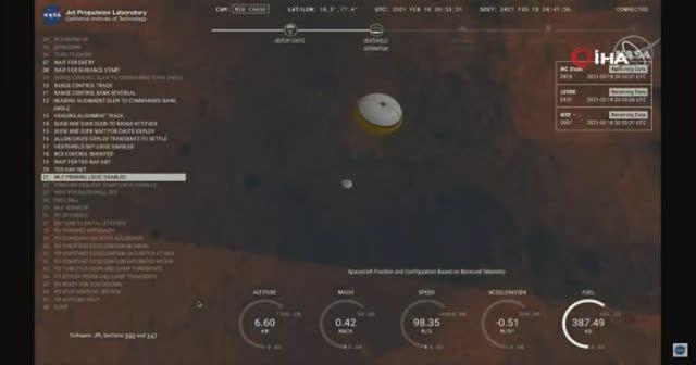 NASA'nın kaşifi Perseverance Kızıl Gezegen'e indi