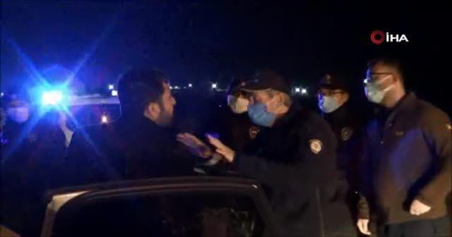 Polisin alkollü kazazede ile imtihanı