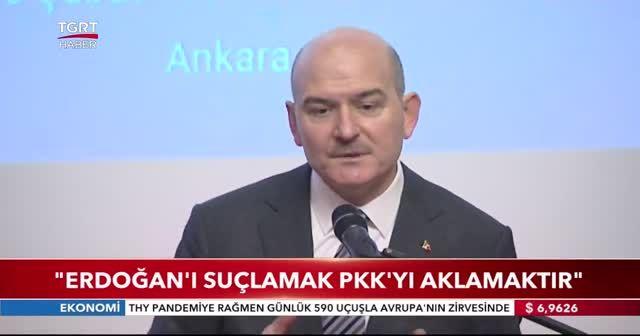 Süleyman Soylu: Erdoğan'ı suçlamak PKK'yı aklamaktır