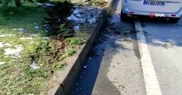 Trabzon'da gizli buzlanma kazalara neden oldu