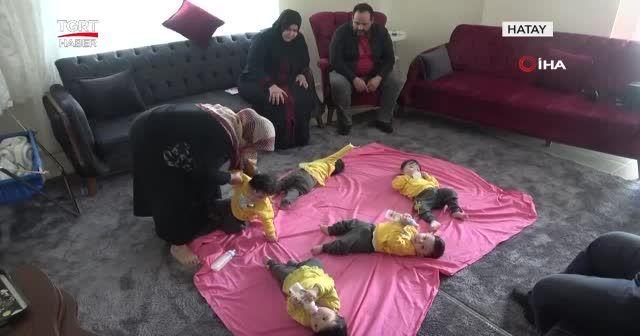 Bakanlıktan beşiz bebekli aileye yardım eli