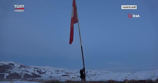Eski korucu çift 37 yıldır bayrak nöbetinde
