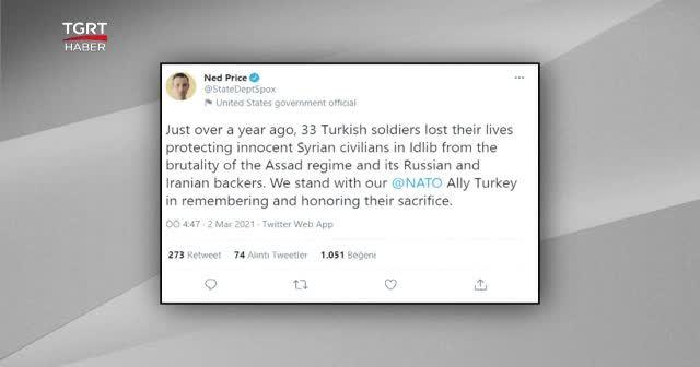 İdlib'de şehit olan Türk askerlerini andı