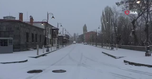 Kars'ta, Mart ayında kara kış