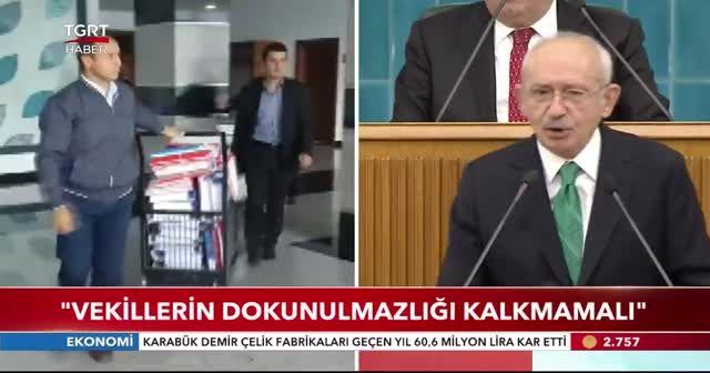 Kemal Kılıçdaroğlu: Vekillerin dokunulmazlığı kalkmamalı
