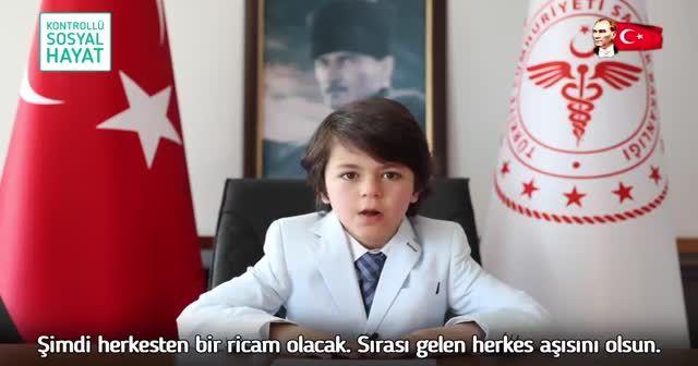 Küçük Sağlık Bakanı'ndan 23 Nisan paylaşımı