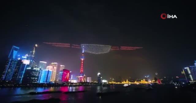 Çin'de yapılan drone şovu Guinness Rekorlar Kitabı'na girdi