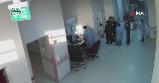 Doktora saldırı güvenlik kamerasında