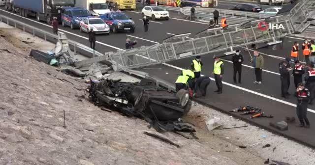 Fahri konsolosla birlikte 4 kişinin öldüğü kaza kamerada