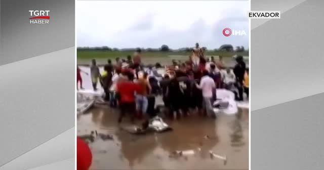 İrtifa kaybeden uçak böyle düştü