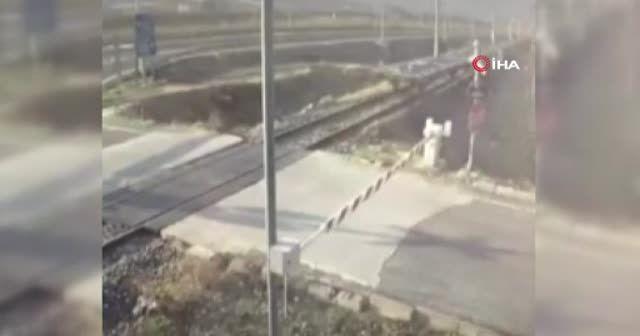 Adana'daki tren kazasının görüntüleri