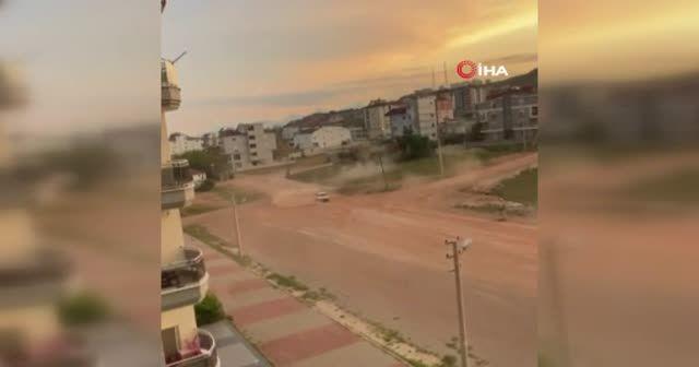 Antalya'da toprak alandaki drifte tepki