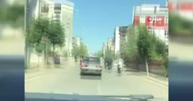 Asker uğurlamasında tabancayla havaya ateş etti