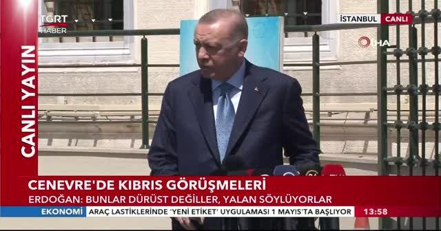 Cumhurbaşkanı Erdoğan'dan Güney Kıbrıs'a tepki