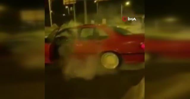 Drift yapan sürücü cezadan kaçamadı