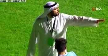 Kuveyt Ligi'nde başkan sahaya indi, penaltıyı iptal ettirdi